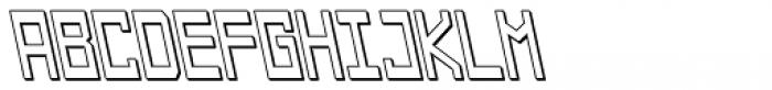 Designator Shadow Backslant Font UPPERCASE