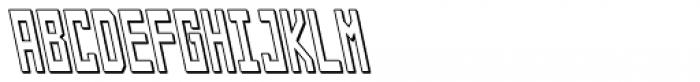Designator Shadow Condensed Backslant Font UPPERCASE