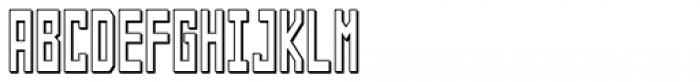 Designator Shadow Condensed Font UPPERCASE