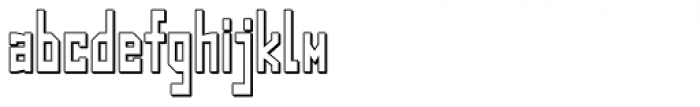 Designator Shadow Condensed Font LOWERCASE