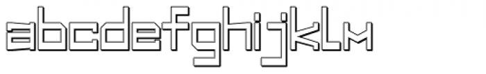 Designator Shadow Wide Font LOWERCASE