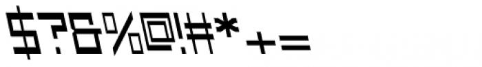 Designator Wide Backslant Font OTHER CHARS