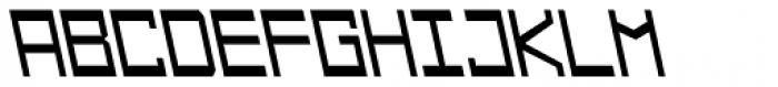 Designator Wide Backslant Font UPPERCASE