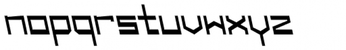 Designator Wide Backslant Font LOWERCASE