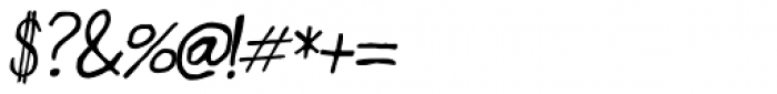Designer Notes Pro Italic Font OTHER CHARS