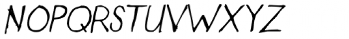 Designer Notes Pro Italic Font UPPERCASE
