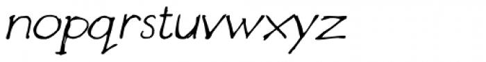 Designer Notes Pro Italic Font LOWERCASE