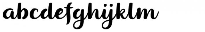 Dessert Menu Script Font LOWERCASE