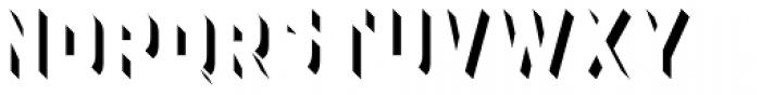 Detroit 01 Drop One Font UPPERCASE