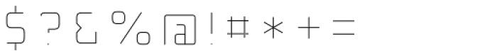 Detroit 10 Inline Font OTHER CHARS
