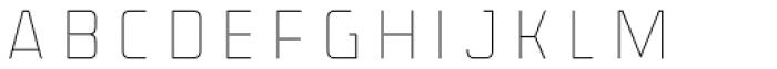 Detroit 10 Inline Font UPPERCASE