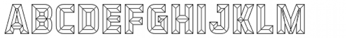 Detroit 11 Bevel One Font LOWERCASE