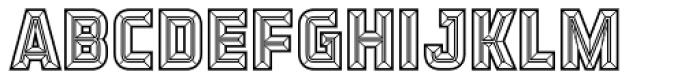 Detroit 12 Bevel Two Font UPPERCASE
