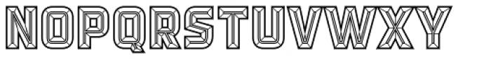 Detroit 12 Bevel Two Font LOWERCASE