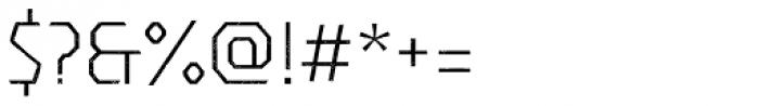 Dever Sans Halftone Light Font OTHER CHARS