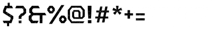 Dever Sans Halftone Medium Font OTHER CHARS