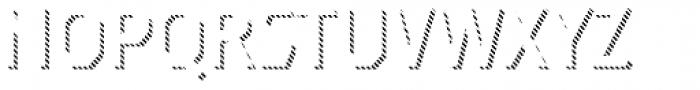 Dever Sans Line Regular Font UPPERCASE
