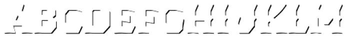 Dever Wedge Accent Medium Font UPPERCASE