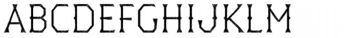 Dever Wedge Halftone Light Font UPPERCASE