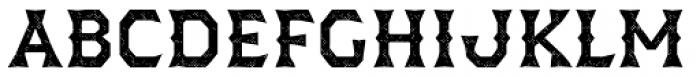 Dever Wedge Halftone Medium Font UPPERCASE