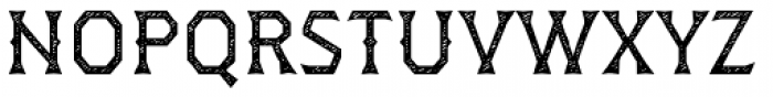 Dever Wedge Jean Regular Font UPPERCASE