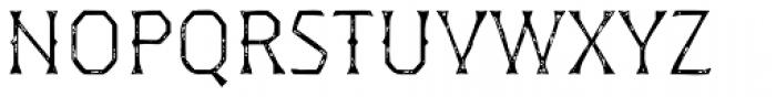 Dever Wedge Print Light Font UPPERCASE