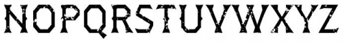 Dever Wedge Rough Regular Font UPPERCASE