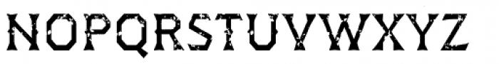 Dever Wedge Rough Regular Font LOWERCASE