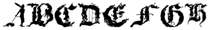 Devilish Font LOWERCASE