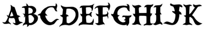 Devils Own Type Font UPPERCASE