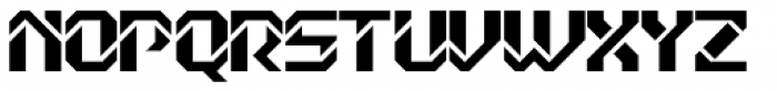Dex Gothic D Font UPPERCASE