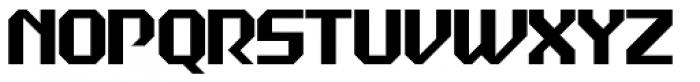 Dex Gothic Solid D Font UPPERCASE