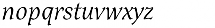 Dez Petranian Light Italic Font LOWERCASE