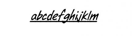 Dear Diary Underline Font LOWERCASE