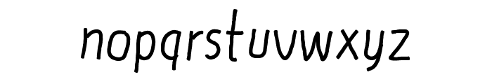 DF Thin Font LOWERCASE