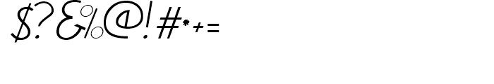 DF Etalage Script Font OTHER CHARS