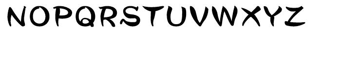 DF Tegaki Warabe Japanese Sumi-W 7 Font UPPERCASE