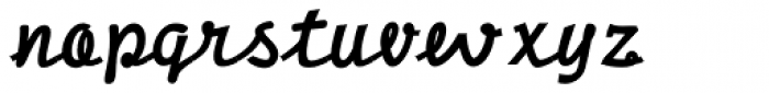 DF Pigtail Fat Font LOWERCASE