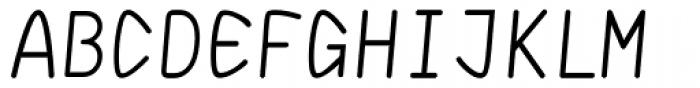 DF Staple Mono Medium Italic Font UPPERCASE