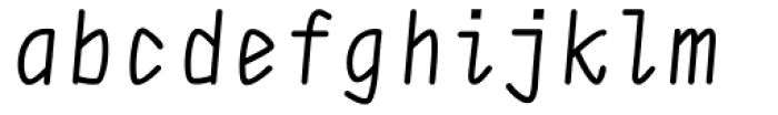 DF Staple Mono Medium Italic Font LOWERCASE