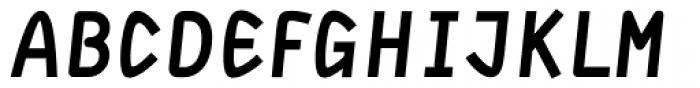 DF Staple TXT Heavy Italic Font UPPERCASE