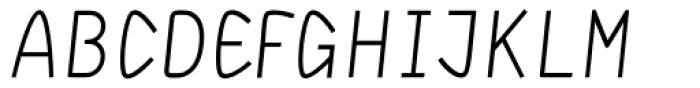 DF Staple TXT Italic Caps Font UPPERCASE