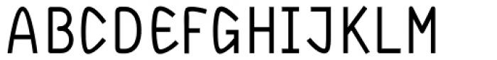 DF Staple TXT Medium Font UPPERCASE