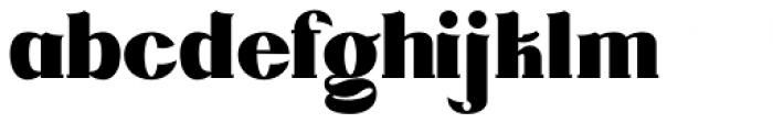 DG Zanardini Bold Font LOWERCASE