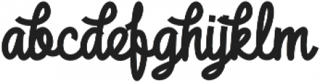 DHF Broffont Script Swash otf (400) Font LOWERCASE