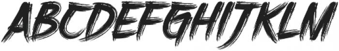 DHF Harry's Brush otf (400) Font UPPERCASE