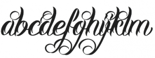 DHF Milestone Script otf (400) Font LOWERCASE