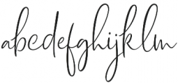 Dhanikans Signature 2 otf (400) Font LOWERCASE