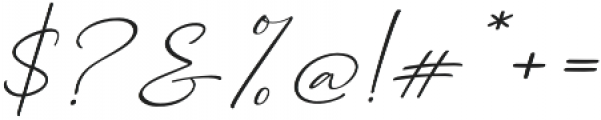 Dhanikans Signature Italic otf (400) Font OTHER CHARS