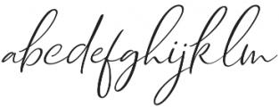 Dhanikans Signature Italic otf (400) Font LOWERCASE